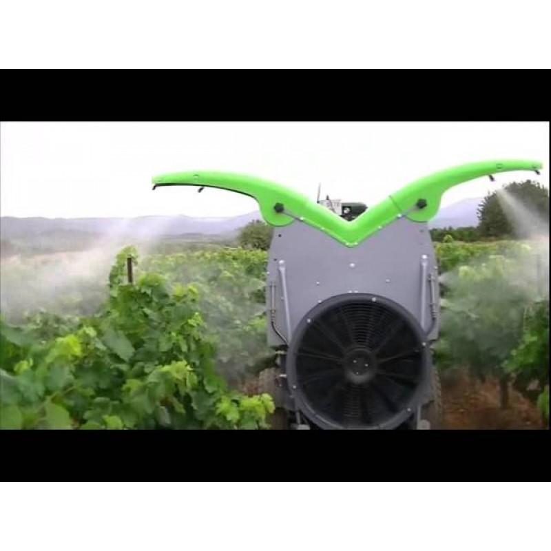 Прицепной опрыскиватель для садов и виноградников «Dinamic Orange Qi 9.0 Ecoteqi» (Fede, Испания)