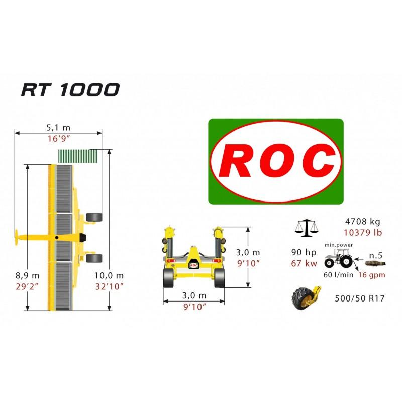 Ленточный валкообразователь RT 1000 (Италия)   Hit продаж!