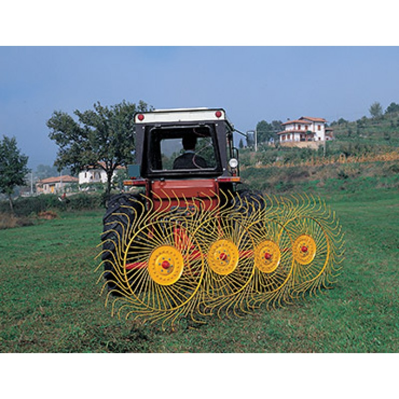 Колесно–пальцевые грабли–ворошилки, валкообразователи RP (Италия) (ширина захвата до 10 м)
